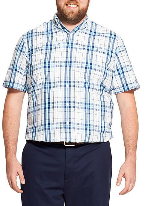 IZOD Big & Tall Breeze Plaid Short Sleeve
