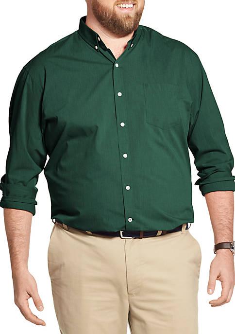 IZOD Big & Tall Premium Essentials Stretch Button