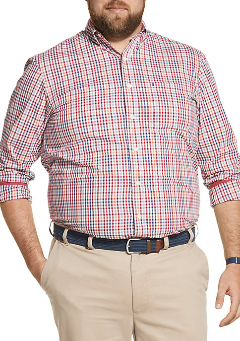 IZOD Big & Tall Long Sleeve Premium Poplin