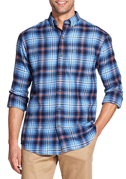 IZOD Big & Tall Plaid Button Down Shirt