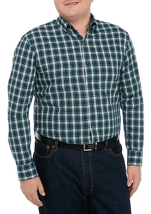 Big & Tall Holiday Tartan Shirt