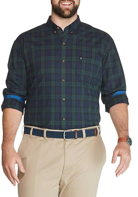 Big & Tall Tartan Button Down Shirt