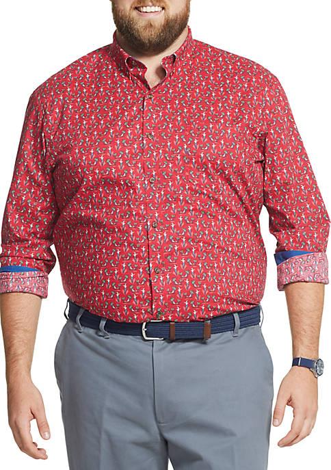 IZOD Big & Tall Tartan Button Down Shirt