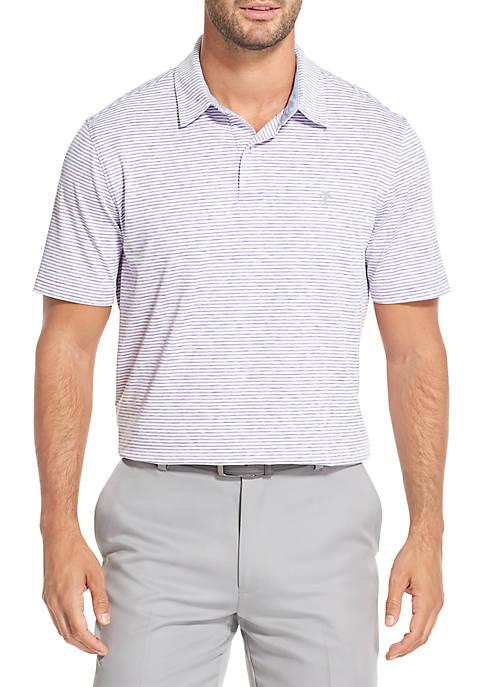 IZOD Greenie Stripe Short Sleeve Polo Shirt