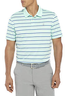 Short Sleeve Stripe Ventilated Polo