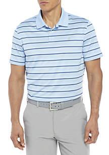 Short Sleeve Stripe Ventilated Polo