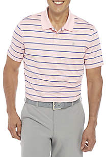 IZOD Short Sleeve Stripe Ventilated Polo