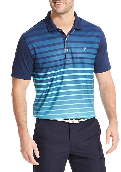 IZOD Ombre Stripes Golf Polo Shirt