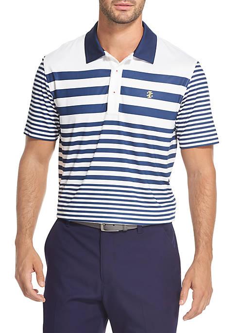 IZOD Multistriped Golf Polo Shirt