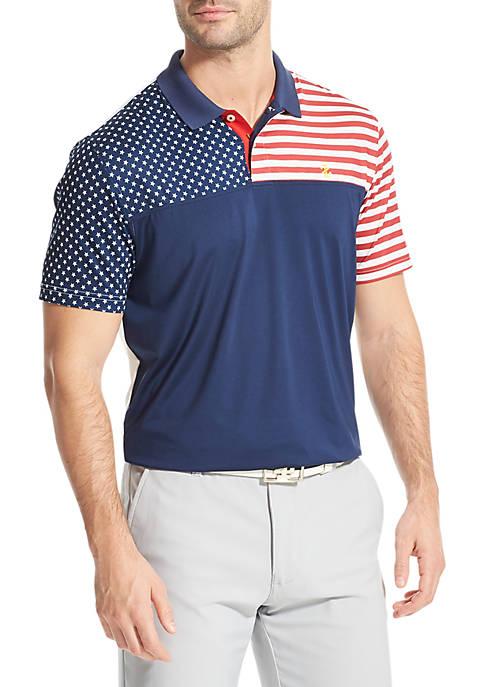 IZOD Flag Golf Polo Shirt