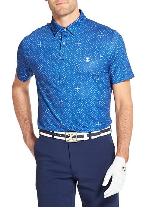 IZOD Mixed Print Golf Polo Shirt