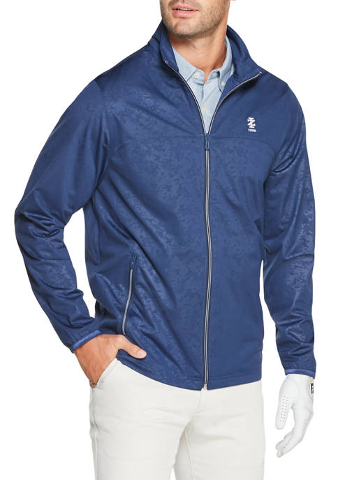 IZOD Mens Golf Knit Zip Jacket