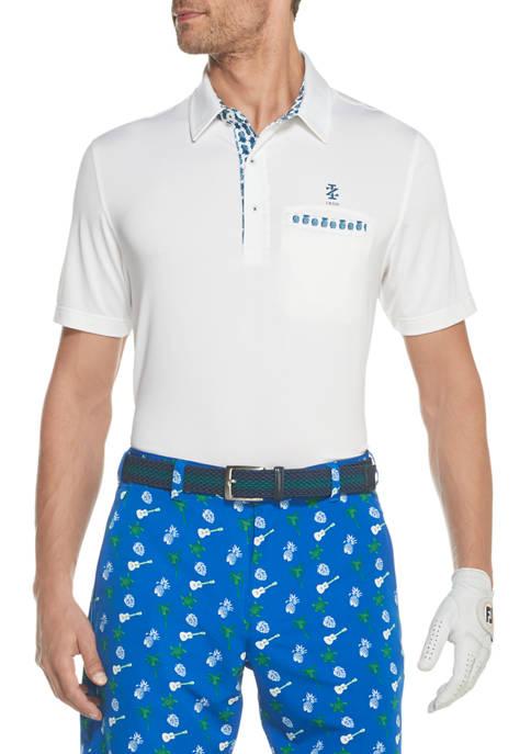 IZOD Mens Golf Pocket Polo Shirt