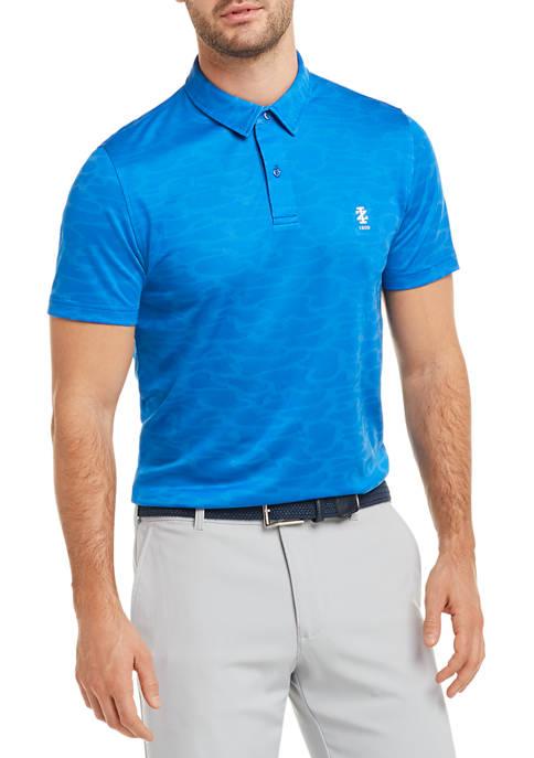 IZOD Mens Golf Slim Fit Printed Polo Shirt