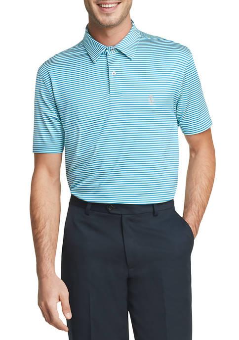 IZOD Mens Golf Striped Polo Shirt