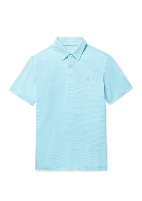 IZOD Mens Golf Gingham Polo Shirt