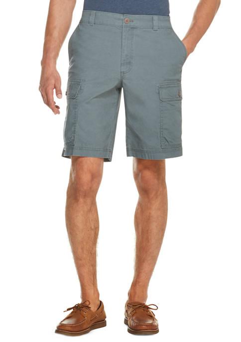 IZOD Mens Saltwater Stretch Cargo Shorts