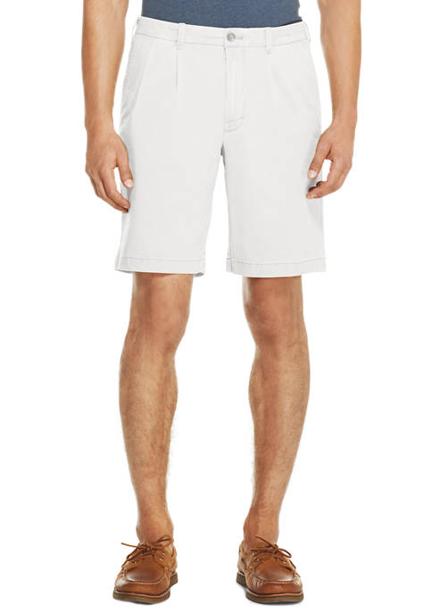 IZOD Mens Saltwater Stretch Pleated Shorts