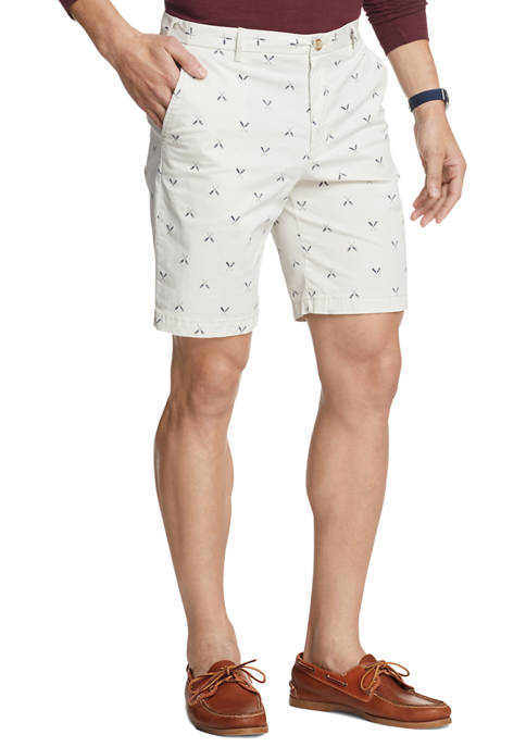 IZOD Mens Saltwater Stretch Printed Shorts