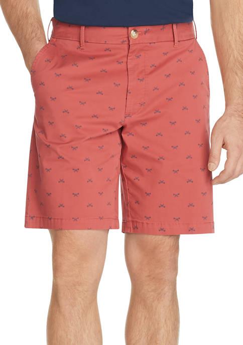 IZOD Advantage Performance Fishbone Print Shorts