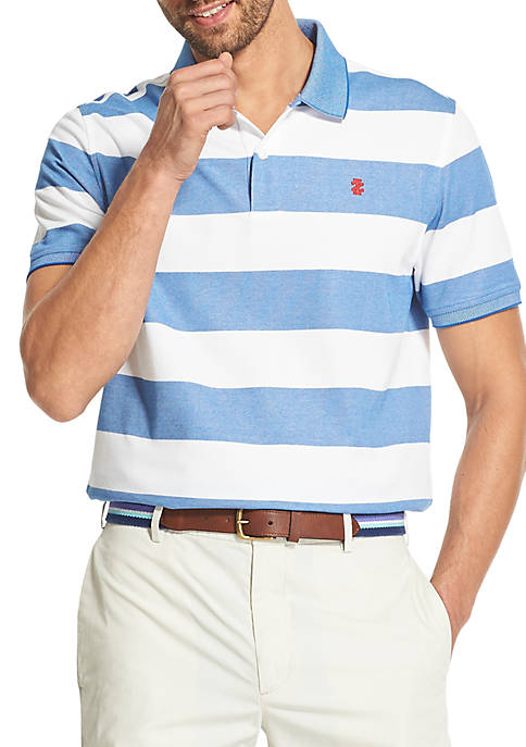 IZOD Advantage Performance Striped Polo Shirt