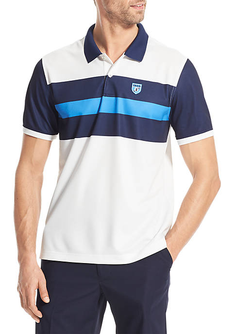 IZOD Advantage Performance Americana Stripe Polo Shirt