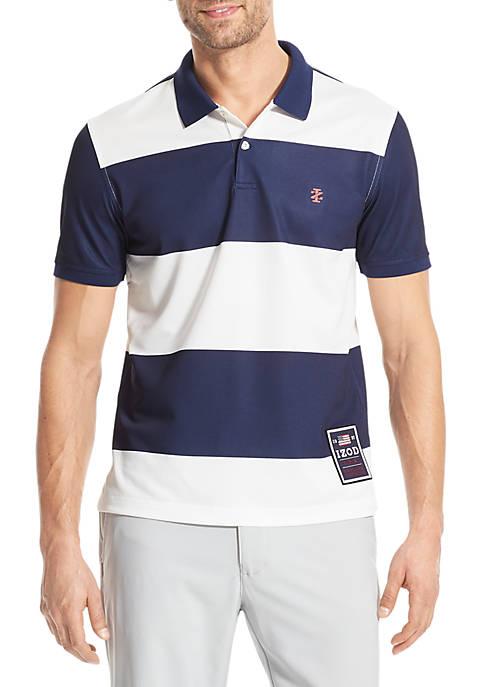 IZOD Advantage Performance Americana Stripe Polo Shirt