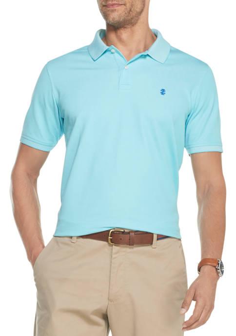 IZOD Mens Short Sleeve Oxford Polo Shirt