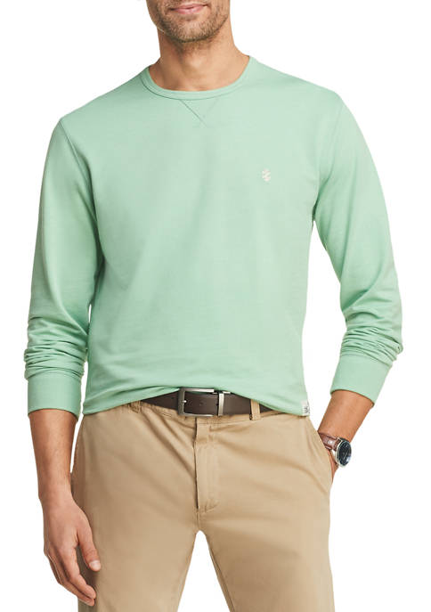 IZOD Mens Saltwater Terry Crew Neck Sweatshirt