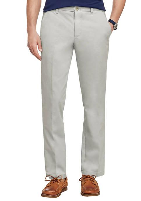 Mens Performance Chino Straight Fashion Pants
