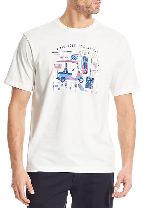 Short Sleeve America Golf Cart Graphic T Shirt