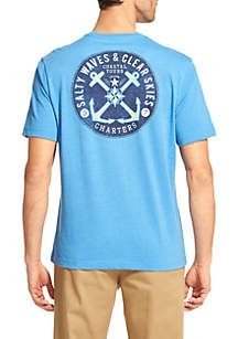 Short Sleeve Salty Waves Anchor T-Shirt