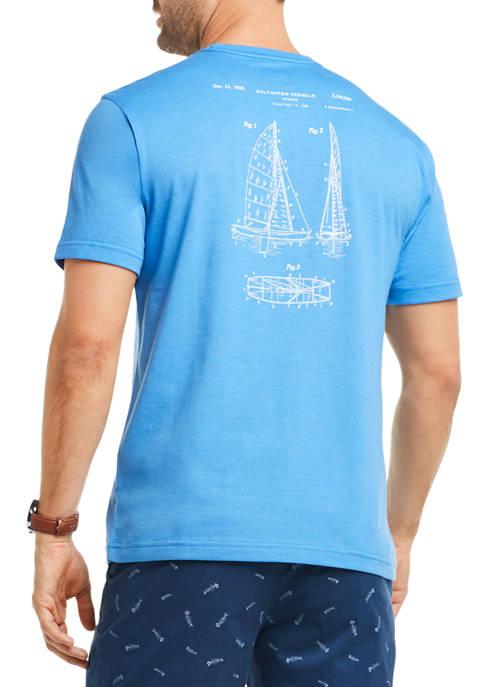 IZOD Mens Saltwater Graphic T-Shirt