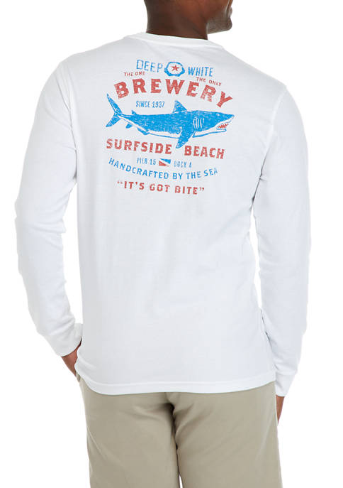 IZOD Long Sleeve Brewery Graphic T-Shirt