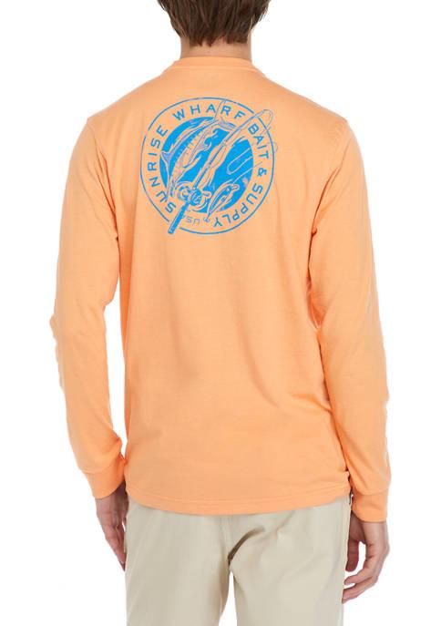 IZOD Long Sleeve Fishpole Graphic T-Shirt