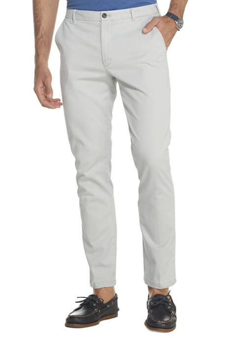 IZOD Mens Saltwater Straight Fit Flat Front Chino