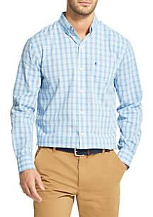 Long Sleeve Stretch Plaid Shirt
