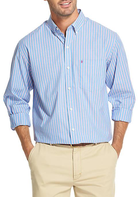 IZOD Premium Essentials Striped Button-Down Shirt