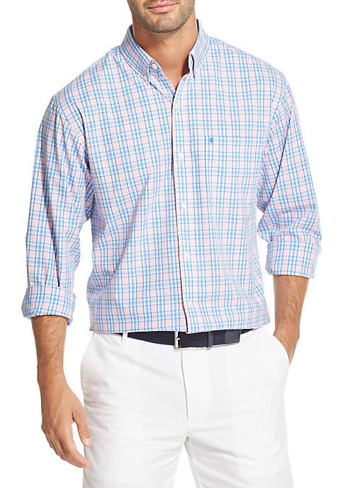 IZOD Premium Essentials Plaid Button Down Shirt