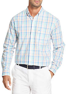 IZOD Long Sleeve Multicolored Gingham Print Shirt