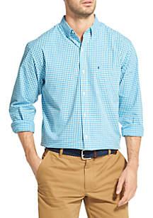 Long Sleeve Tonal Gingham Shirt