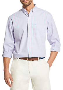 IZOD Long Sleeve Tonal Gingham Shirt