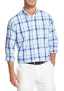 Long Sleeve Plaid Breeze Shirt