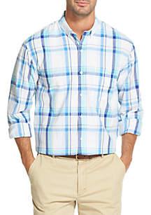 IZOD Long Sleeve Plaid Breeze Shirt