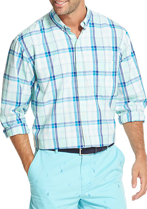 IZOD Breeze Plaid Button-Down Shirt