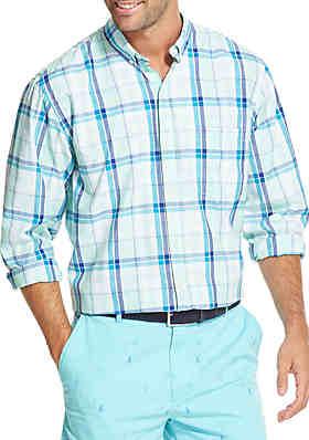 9270c764e46 IZOD Breeze Plaid Button-Down Shirt ...