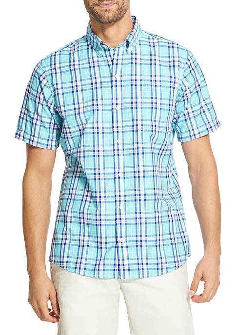 IZOD Short Sleeve Breeze Plaid Shirt