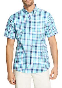 Short Sleeve Breeze Plaid Shirt