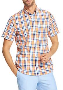 IZOD Short Sleeve Breeze Plaid Shirt