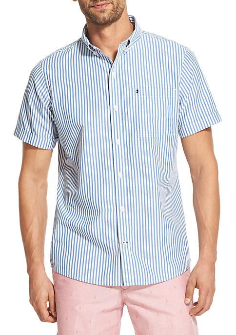 Breeze Striped Short Sleeve Button Down Shirt